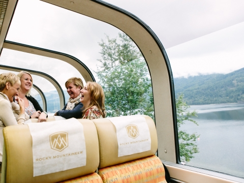 Dome Cars Gold Leaf Service — Rocky Mountaineer