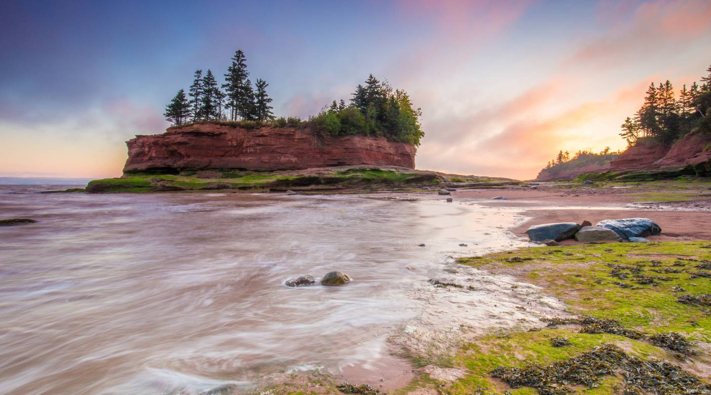 Burntcoat Head Park, Bay of Fundy, where the highest tides in the world are recorde