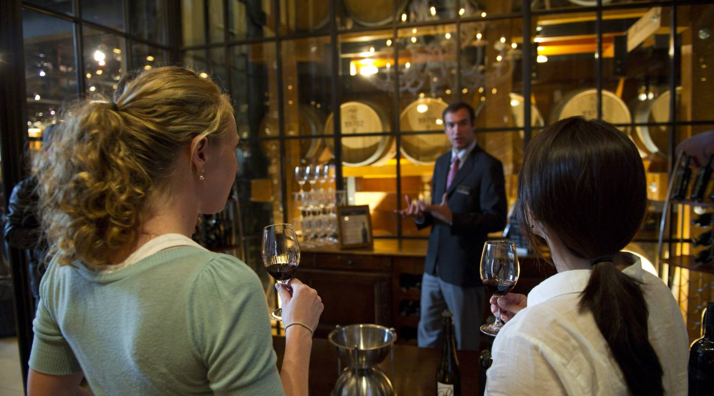 Sip award-winning wines in the subterranean barrel cellar followed by sommelier-guided, gourmet dinner