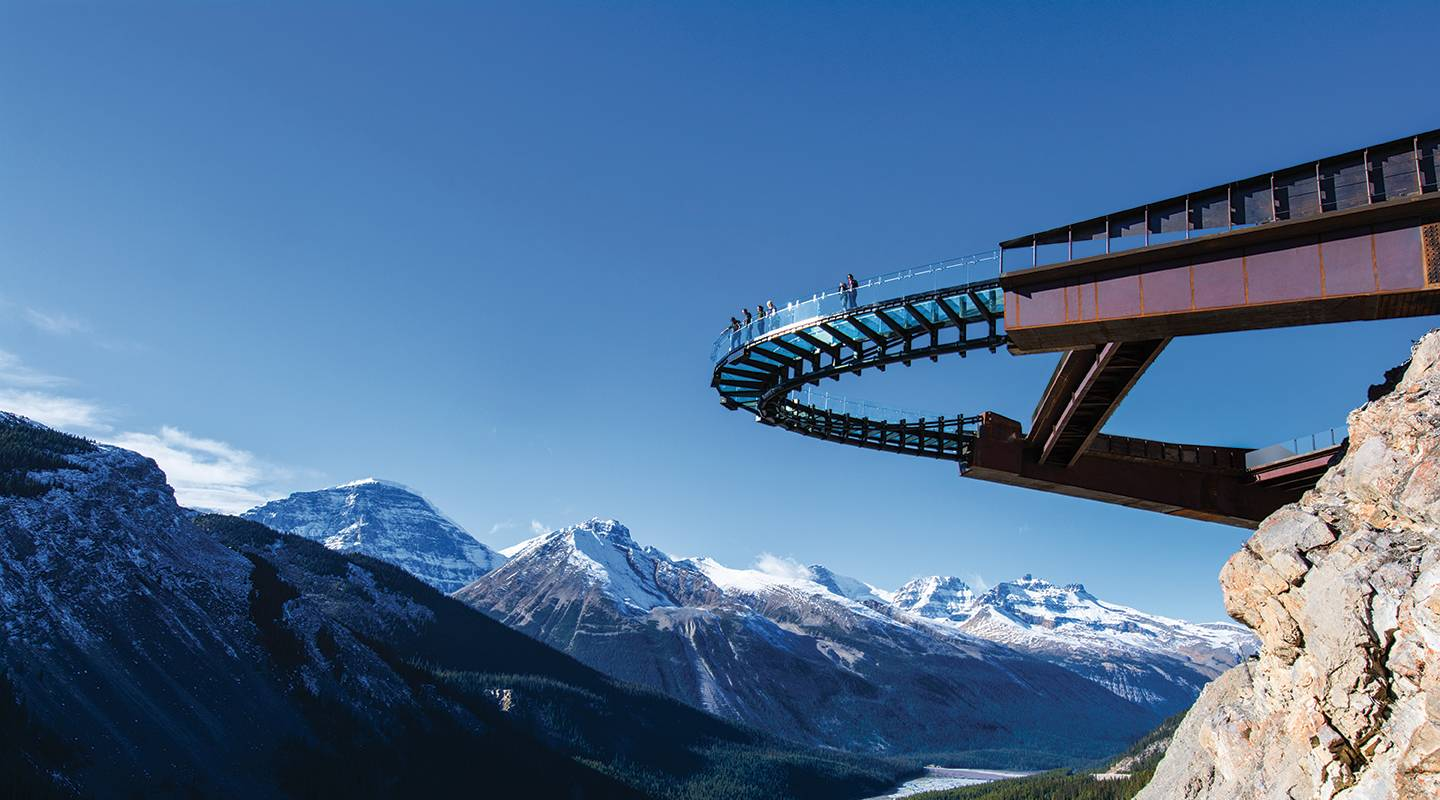 Escorted interpretive excursion via chartered snocoach and self-guided glacier skywalk