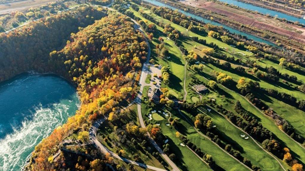Aerial view golf