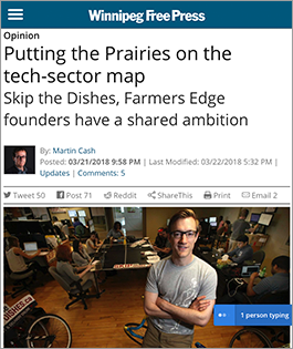 Putting the Prairies on the tech-sector map - Winnipeg Free Press