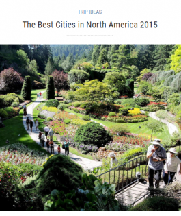 Travel + Leisure - The Best Cities in North America 2015