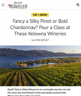 Fancy a Silky Pinot or Bold Chardonnay? Pour a Glass at These Kelowna Wineries